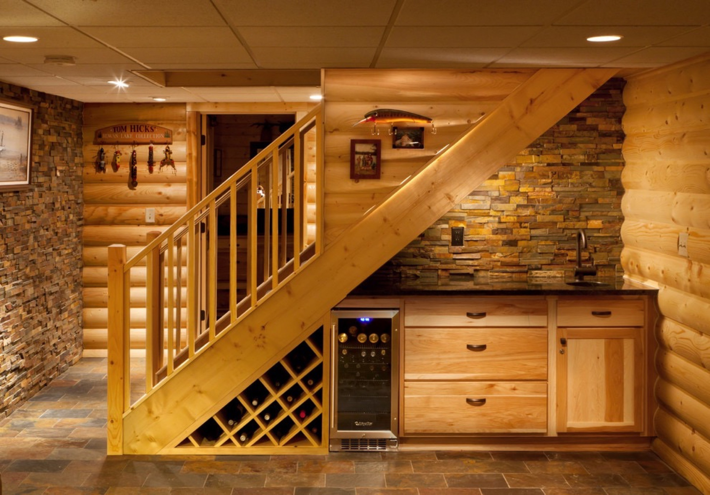 Basement staircase installation costs updated prices in 2018 for How much does it cost to build a wet bar