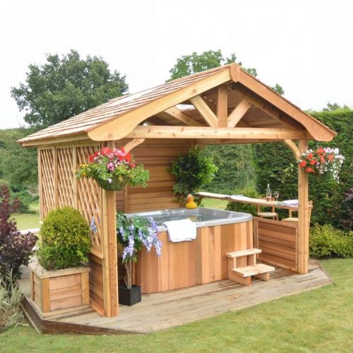 Hot tub installation cost guide and cost breakdown for Gazebo cost to build