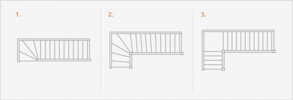 l-shaped staircase example