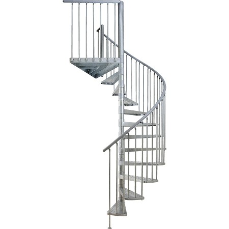 Basement staircase installation costs updated prices in 2018 for Aluminum spiral staircase prices