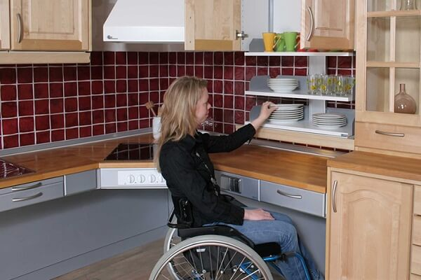 kitchen countertop for disabled