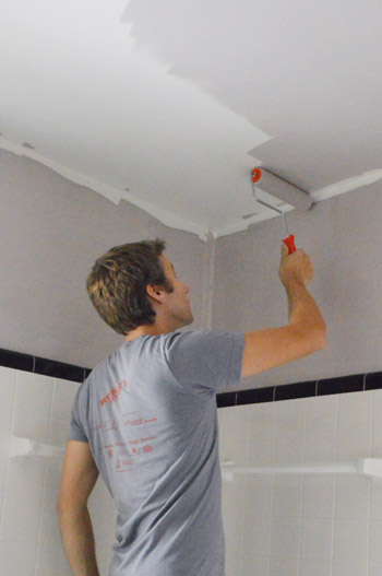 painting bathroom