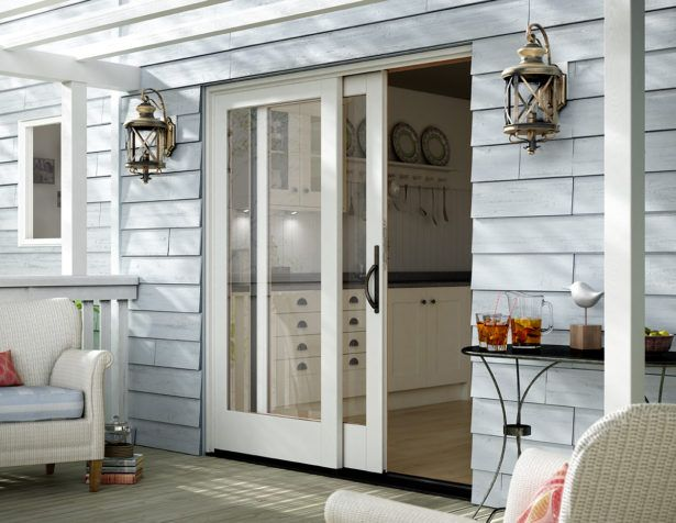 glass sliding entry door