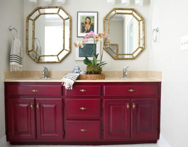 painting bathroom vanity