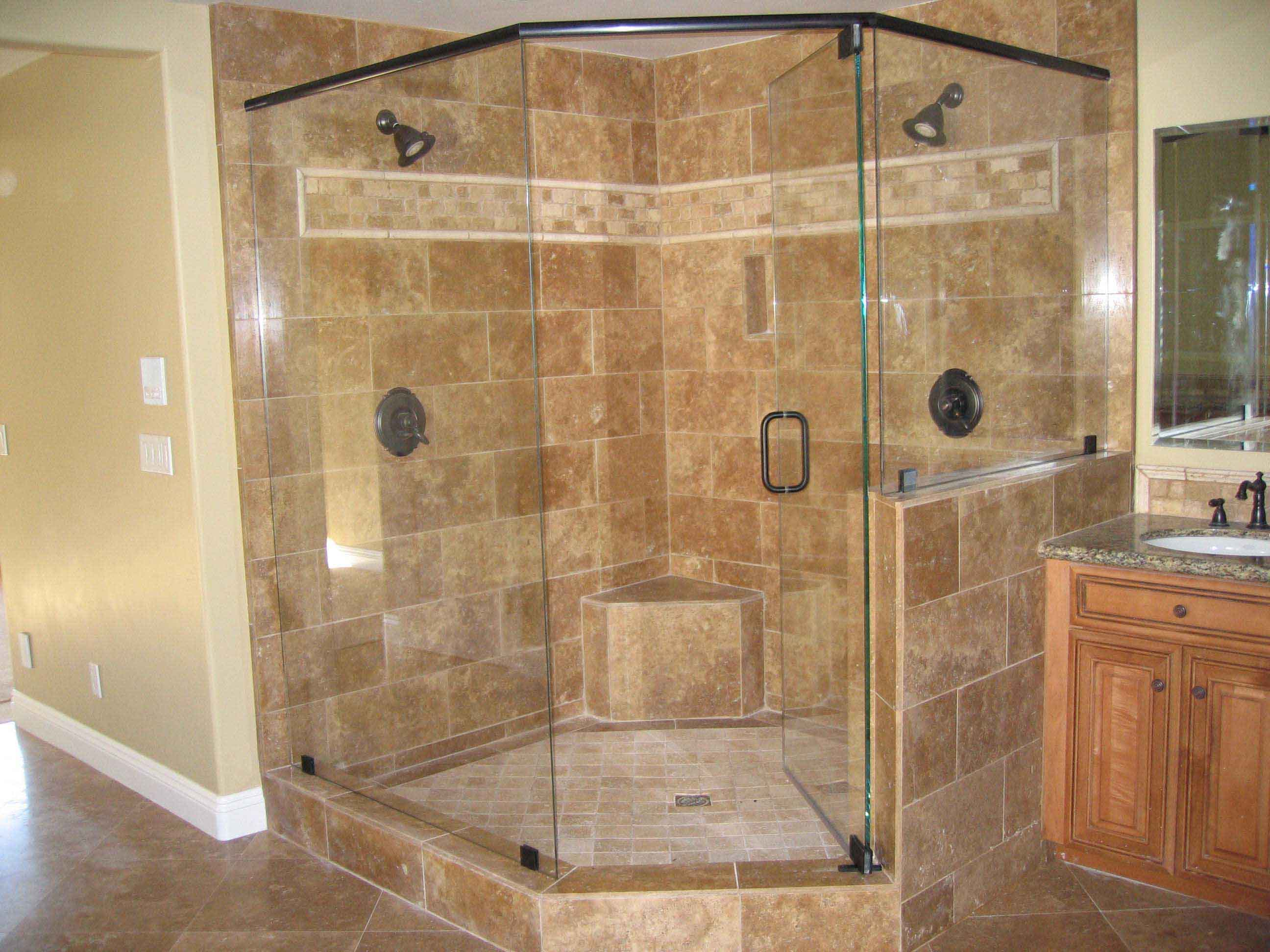 sam eagle inlays shower and alone tile benches showers stone remodeling bathroom