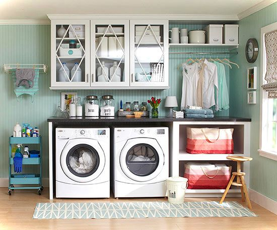 laundry room unclutter