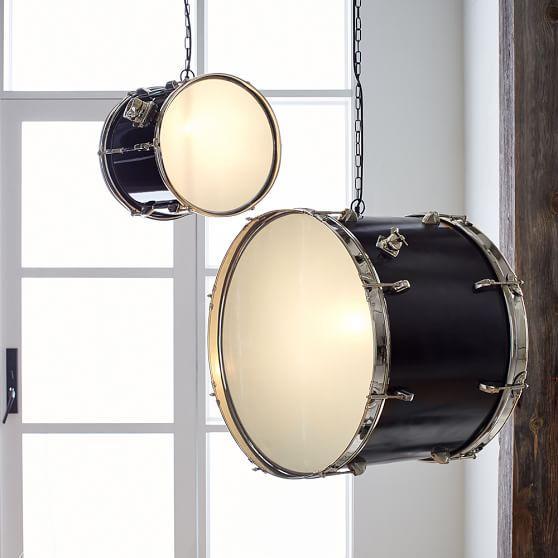drum set pendant lamps