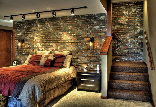 fake brick wall