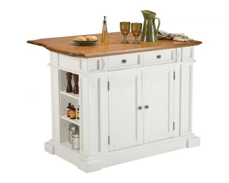 Stationary Island with Cabinets