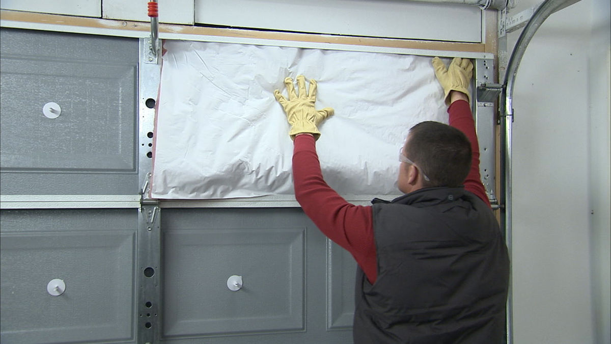 Garage door insulation diy tips cost of materials thatsweetgift rubansaba