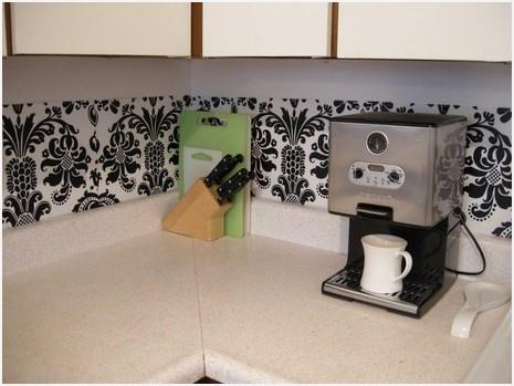 Kitchen Backsplash Contact Paper » Inviting plastic dollar store placemats as backsplash apartment