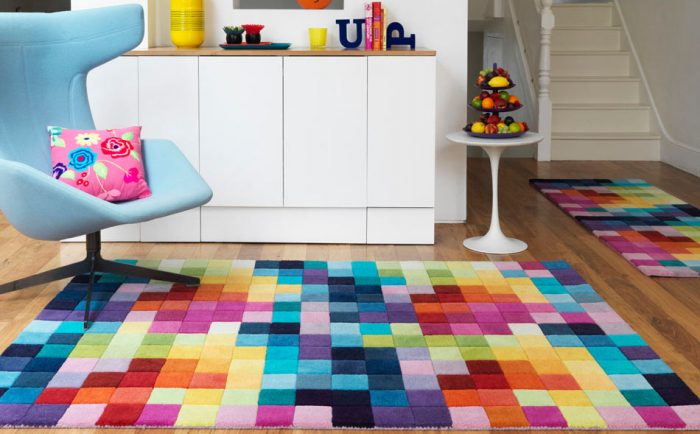 colored rug