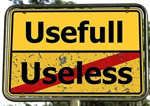 Useful better than useless