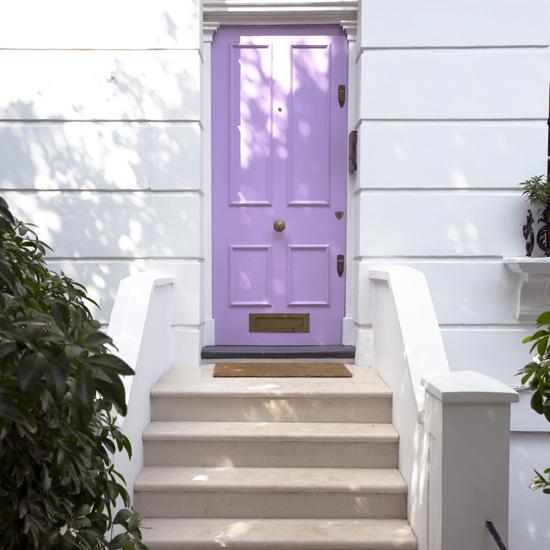 light violet door