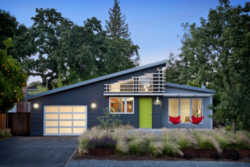 lime green grey house