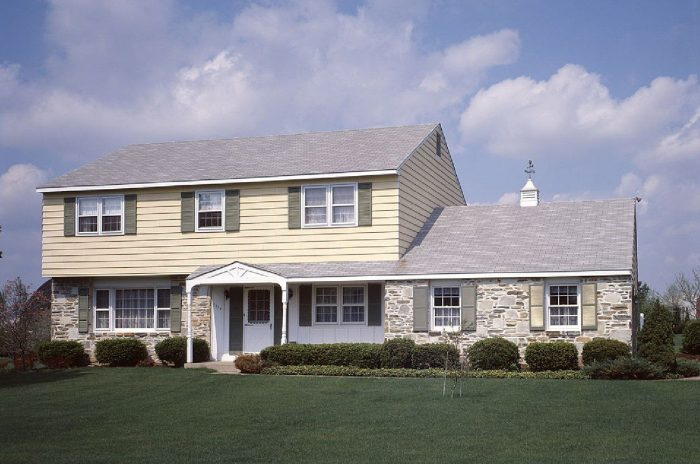 sage green brown white exterior paint
