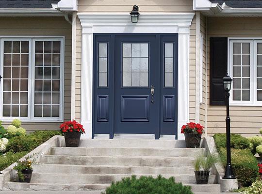steel blue front door