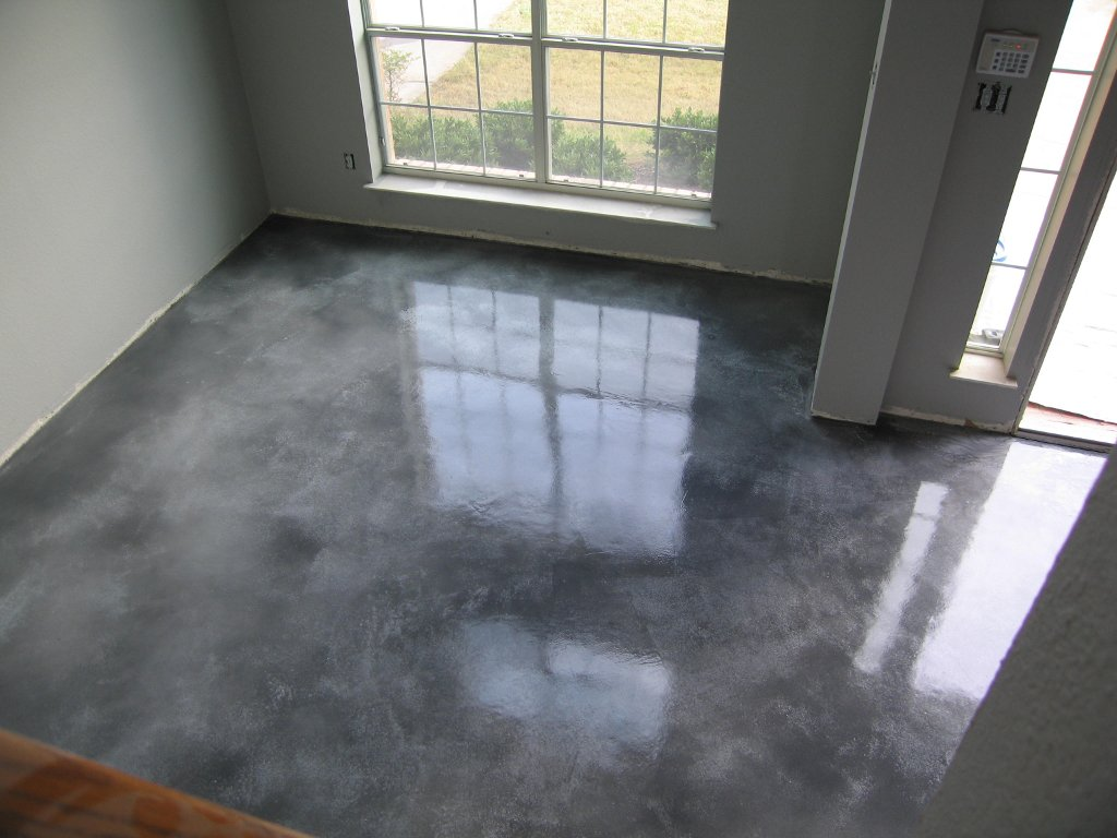 stained concrete floors cost how to stain diy maintenance tips. Black Bedroom Furniture Sets. Home Design Ideas