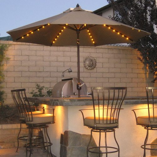 Solar lighted umbrellas