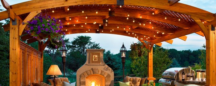 everhanging patio string lights