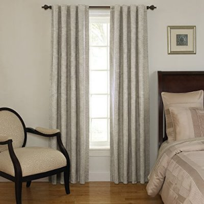 Beautyrest 11239042X095IV Chenille 42-Inch by 95-Inch Rod Pocket Single Window Curtain Panel