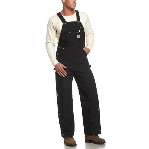 1. Carhartt Men's Quilt Lined Zip Overalls