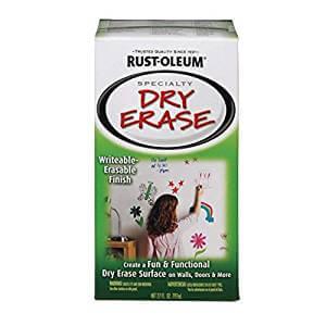 Rustoleum 241140 2 Pack 27 oz. Specialty Dry Erase Paint Kit, White