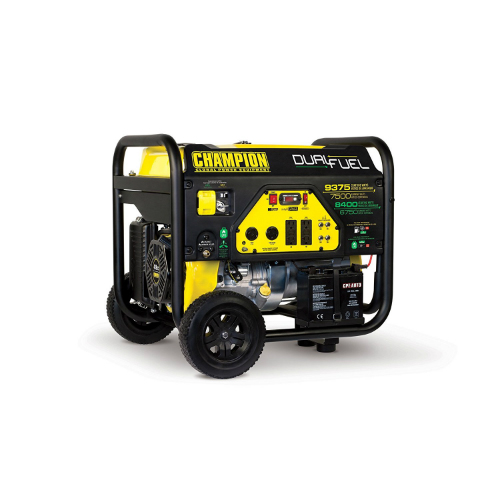 1. Champion 7500-Watt Dual Fuel Portable Generator
