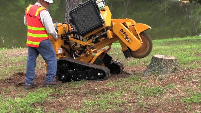 a heavy-duty stump grinder