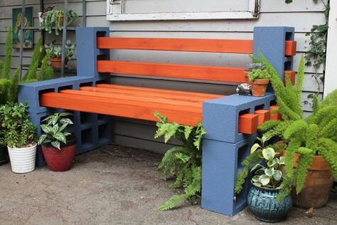 Cinder Block Benches