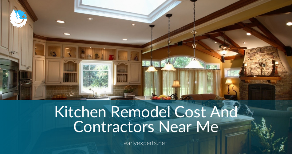 Kitchen Remodel Cost Contractors Near Me Checklist Free Quotes - Kitchen lighting near me