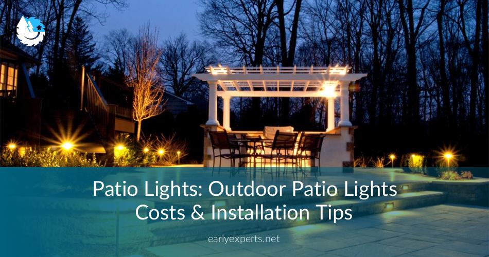 Patio Lights Outdoor Patio Lights Cost Amp Best
