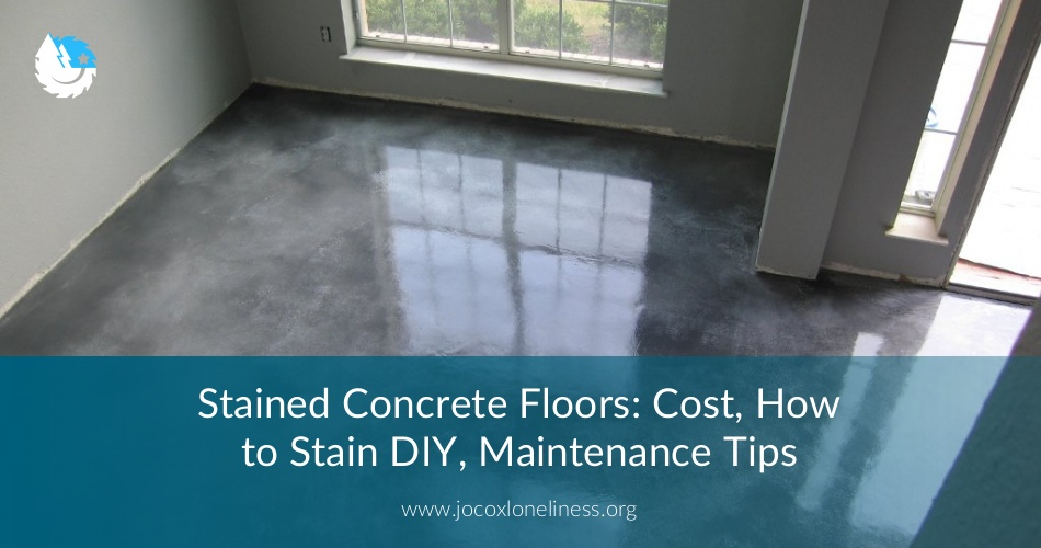 Stained Concrete Floors Cost How To Stain Diy