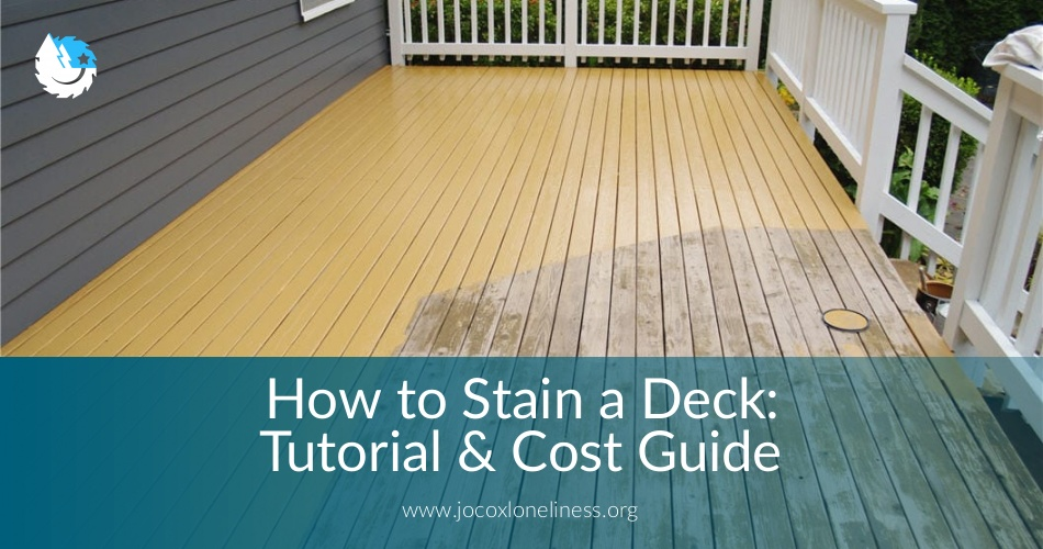 How To Stain A Deck Tutorial Cost Guide Jocoxloneliness