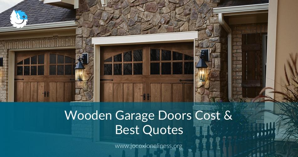 Wooden garage doors cost best quotes contractorculture for Cedar garage doors prices